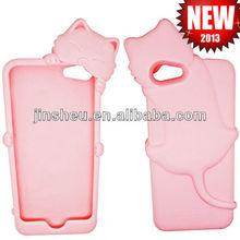 3D shape animal silicone phone case