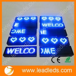 77x30x6mm led name badges for nurses
