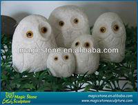 white owl sculpture