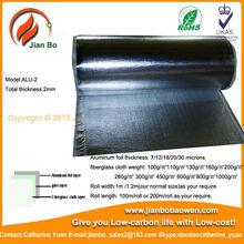 Aluminum foil laminated fiberglass cloth aluminum composite roof