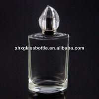 elegant square glass perfume bottle for men in unique shaped