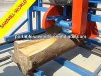 Lumber wood cutting machine-angle circular double blades saw
