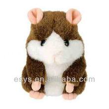 recordable talking stuff animals talking moving plush hamster dolls