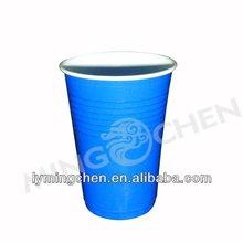 Double color disposable plastic cup