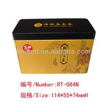 pretty rectangle tea tin can tin box