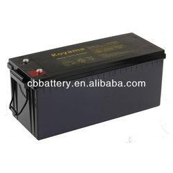 Deep cycle Battery VRLA AGM battery -12V210AH for renewable energy