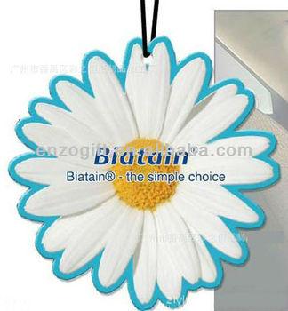 Sun flower scent custom car freshener from factory