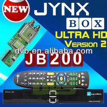 JYNXBOX Ultra HD V2 + JB200 8QPSK Module Tuner INSTALLED/TESTED + HDMI USB CAT5