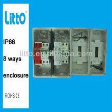 8P IP66 weatherproof enclosure with MCB, SPD