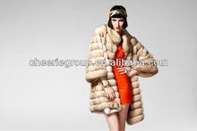 2013 fashion design new style ladies pretty elegant natural mink fur coat