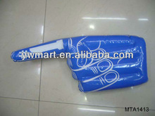 Promotional inflatable PVC hand with one finger