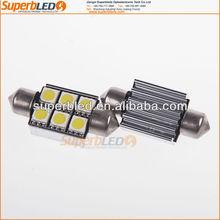 Hottest 12V/24V 36mm/39mm Festoon C5W 5050 6SMD canbus error free licence light led car light