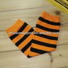 High quality orange with black Halloween baby designer leg warmer