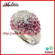 R3640 fashion palladium silver rhinestone ring