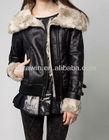 FF0042 Black leather women locomotive suit