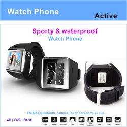 2013 Alibaba waterproof hand watch mobile phone