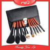 MSQ 8pcs Chinese red goat hair private label makeup brush kits set