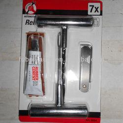 Tubeless TIRE REPAIR KIT for Cars Motorcycles / insert tools