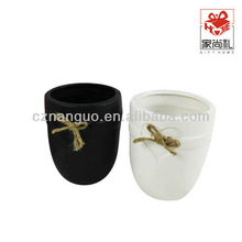 ceramic orchid flower pots and black planters