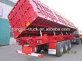 Eixo 3 60t basculante/tombamento lateral trailer de despejo semi
