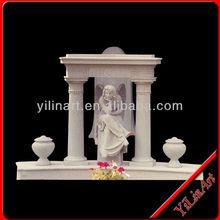 Florero lápida, lápida de granito de los precios, piedra sepulcral yl-r484