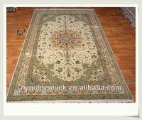 6x9ft chinese wool silk blend muslim islam prayer carpet