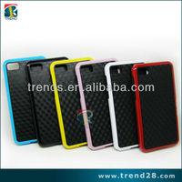 two tone color carbon fibre pc+tpu case for Blackberry z10
