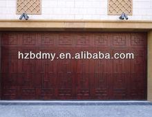 European style high quality solid wood garage door