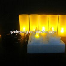 4 unids LED recargable del molde para vela