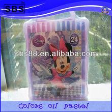 Crayon 24 colors oil pastels in color box