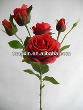 guangdong silk cloth wholesale rose handcraft artificial flower27523HN