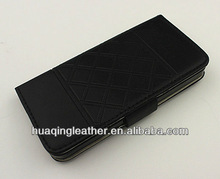 New Arrival card holder leather case for iphone5 with embossing