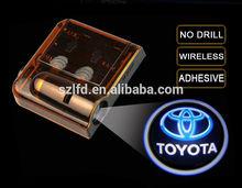 China supplier wireless led car door logo laser projector light/Auto parts car shadow ghost logo led door light