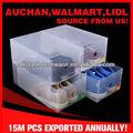 plástico transparente pp sapato empilháveis armazenamento gaveta caixa de sapatos de desporto