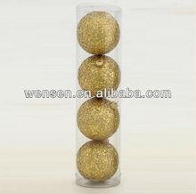 Golden Christmas bauble, one dollar Christmas ball ornament