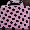 polka dot women handbag style leather case for ipad 2 3 4