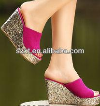 Hot girls platform sandal sexy lady high plaftrom no heel sandal XT08 -S102145