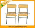 y de madera y pies de acero sillas de comedor de la escuela de estilo sencillo