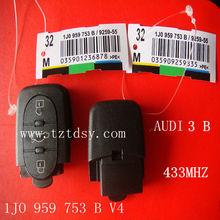Tongda top quality key remote Adi 3 Button remote key( 1JO 959 753B) V4 433MHZ