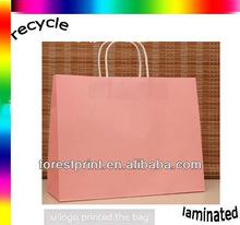pink kraft paper bag for retail
