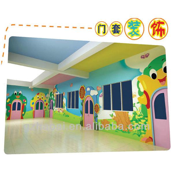 Wall Decoration Kindergarten : A new design colorful kindergarten wall