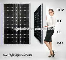 High quality 290 watt solar pv panel for solar power system with TUV, IEC, CE