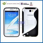 C&T Black S Series PC + TPU Hybrid Kickstand Case for Samsung Galaxy Note 2 II N7100