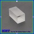 uv sílice fundida de fibra óptica rectangular prisma para el dispositivo electrónico