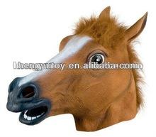 Horse Animal Head Mask Creepy Halloween Costume Masks Prop Theater Novelty Mask Latex