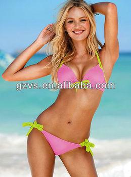 Pink open sex animal bikini swimwear swimsuit bathing suit
