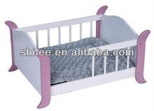 wooden plush pet bed/house/mat dog nest bed