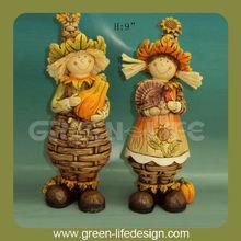Resin figurines Harvest festival kids statue