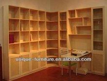 Modern book shelf&design wooden bookshelf with fashion style
