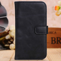 Magnetic retro leather wallet stand case for samsung galaxy S 4 IV i9500